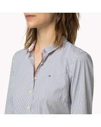 Tommy Hilfiger Blue Poplin Stripe Shirt