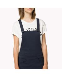 Tommy Hilfiger Blue Punto Roma Dungaree Dress