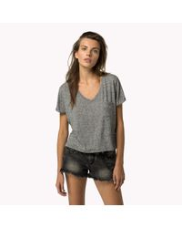 Tommy Hilfiger | Gray Supersoft Linen Blend T-shirt | Lyst
