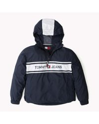 Tommy Hilfiger - Blue Pop Over Jacket - Lyst
