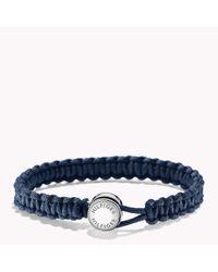 Tommy Hilfiger - Blue Anchor Macrame Bracelet for Men - Lyst
