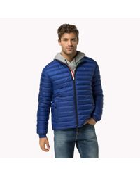 Tommy Hilfiger | Blue Leightweight Packable Down Bomber for Men | Lyst