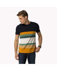 Tommy Hilfiger | Blue Cotton Jersey Crew Neck T-shirt for Men | Lyst