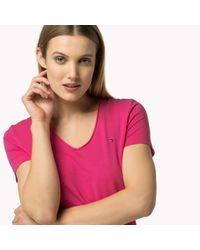 Tommy Hilfiger Pink Classic V-neck T-shirt