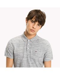 Tommy Hilfiger Gray Fitted Polo Shirt for men