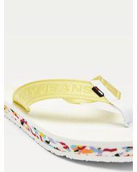 Tongs à brides en toile Tommy Hilfiger en coloris Multicolor