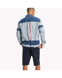 Tommy Hilfiger Blue Oversized Denim Trucker Jacket for men