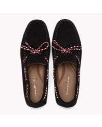 Tommy Hilfiger Blue Suede Lace Loafers
