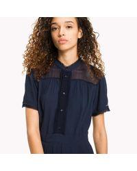 Tommy Hilfiger Black Pintucked Shirt Dress