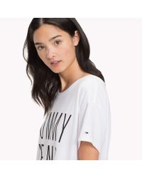 Tommy Hilfiger White Jersey Cropped T-shirt
