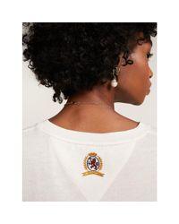 Tommy Hilfiger White Pure Cotton Crest T-shirt
