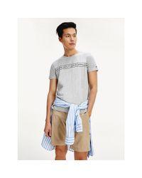 Tommy Hilfiger Gray Organic Cotton Logo T-shirt for men