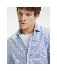 Tommy Hilfiger Blue Th Flex Cotton Check Shirt for men