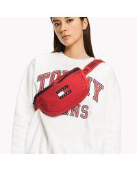 Tommy Hilfiger Red Crossover Waist Bag