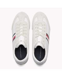 Tommy Hilfiger White Classic Stripe Trainers for men