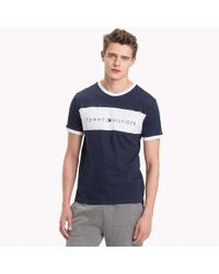 Tommy Hilfiger Blue Cotton Lounge T-shirt for men