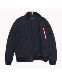 Tommy Hilfiger Blue Lightweight Bomber Jacket for men