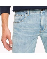 Tommy Hilfiger Blue Denton Straight Fit Stretch Jeans for men