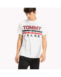 Tommy Hilfiger White Regular Fit Logo T-shirt for men