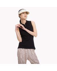 Tommy Hilfiger Black Sleeveless Polo Shirt