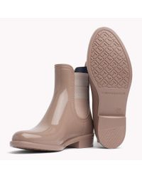 Tommy Hilfiger Brown Chelsea Rubber Boots