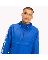 Tommy Hilfiger Blue Recycled Polyester Pullover Anorak for men