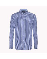 Tommy Hilfiger Blue Regular Fit Striped Shirt for men
