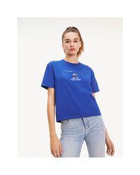 Tommy Hilfiger Blue 1985 Cropped T-shirt
