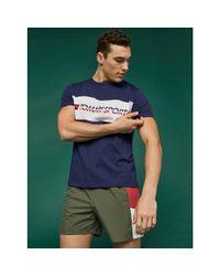 Tommy Hilfiger Blue Tommy Sport Logo T-shirt for men