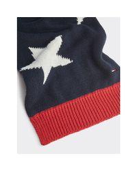 Tommy Hilfiger Multicolor American Flag Knit Scarf for men