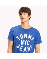 Tommy Hilfiger Blue Jersey Logo T-shirt for men