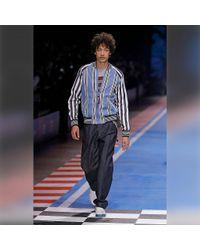 Tommy Hilfiger Blue Stripe Bomber Shirt Jacket for men