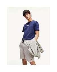 Tommy Hilfiger Blue Organic Cotton Back Logo T-shirt for men