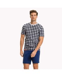 Tommy Hilfiger Blue Check Regular Fit T-shirt for men