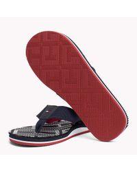 Tommy Hilfiger Blue Textured Beach Sandals
