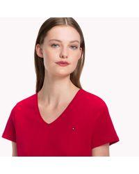 Tommy Hilfiger Red V-neck T-shirt