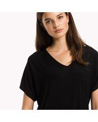 Tommy Hilfiger Black V-neck T-shirt