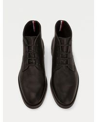 Bottes derbies Premium en cuir Tommy Hilfiger pour homme en coloris Black