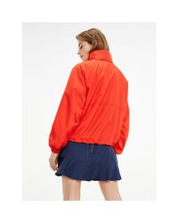 Tommy Hilfiger Red Logo Embroidery Recycled Jacket