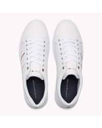 Tommy Hilfiger White Classic Leather Trainers for men