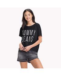 Tommy Hilfiger Black Jersey Cropped T-shirt