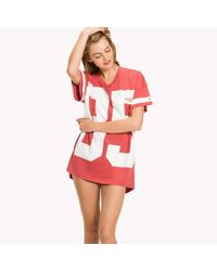Tommy Hilfiger Red College T-shirt Nightdress