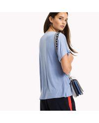 Tommy Hilfiger Blue V-neck T-shirt