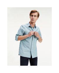 Tommy Hilfiger Green Oxford Cotton Shirt for men
