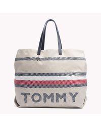 Tommy Hilfiger Multicolor Signature Stripe Textile Tote