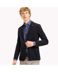 Tommy Hilfiger Blue Virgin Wool Tailored Blazer for men