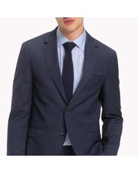 Tommy Hilfiger Blue Check Suit Separate Blazer for men