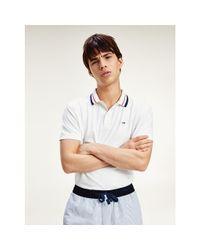 Tommy Hilfiger Classics Polo Van Biologisch Katoen Met Stretch in het White voor heren
