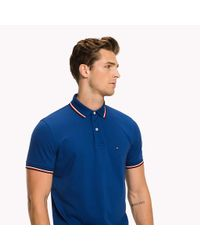 Tommy Hilfiger Blue Tipped Regular Fit Polo for men