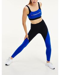 Tommy Hilfiger Bio Dry legging In Volle Lengte in het Blue